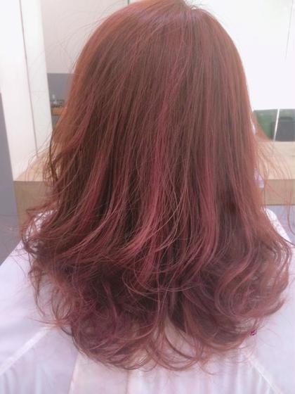 ハイライト×ピンク Hair&Beauty  theB所属・山田香織のスタイル