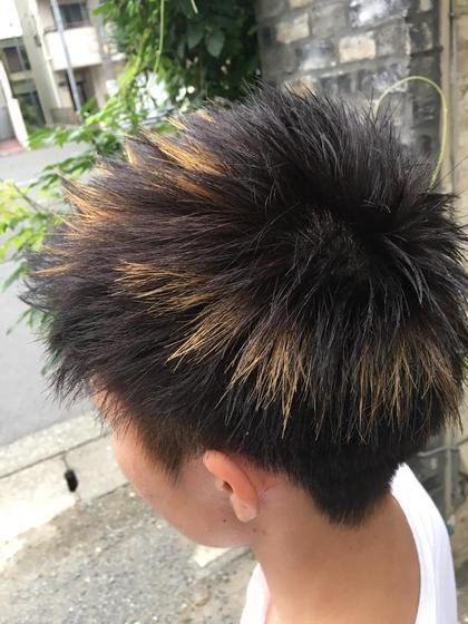 ショートスタイル 金メッシュ elk by cotton所属・亀井優太のスタイル