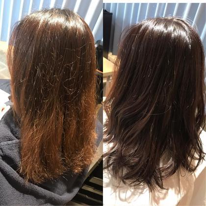 ⭐︎#アオハル 前髪cut+ナノスチーム+透明感フルカラー+3step TR⭐︎
