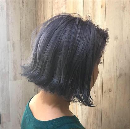 ツヤ感MAX、個性MAX、ブルー系やっぱいいです colorresortAi葛西店所属・Ai葛西店☆のスタイル