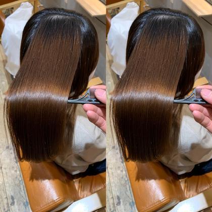 🦋髪質改善🦋ケアストレート縮毛矯正+カット+3step超音波トリートメント🦋\¥13990