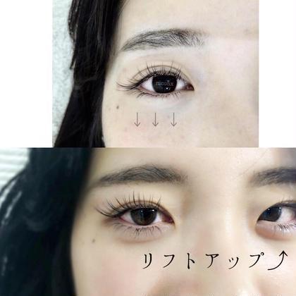 +1080yenでリフトアップ施術可能です❤︎ 下向きまつ毛さんもぐいんっ⤴︎と上がって 目に影ができず、大きな目になりますよ💕 お時間30分程頂きます☺︎