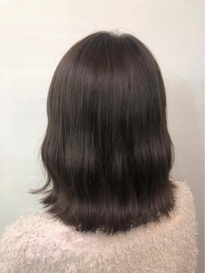 その他 カラー ミディアム きれいな黒髪だったヘアスタイルからナチュラルに明るくアッシュブラウンに❤️ 明るくしたいけど透明感はだしたい!という方におすすめ☺️
