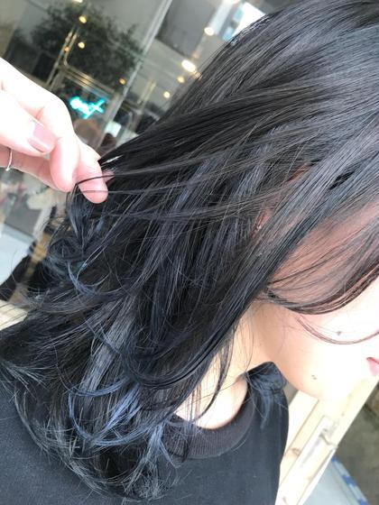 カラー ミディアム ブルーの自然なグラデーション💙* 人気です◎