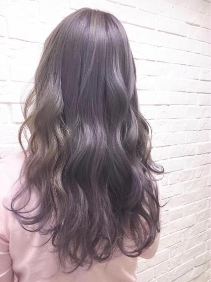 パープルアッシュカラー Hairsalon F所属・濱井志織のスタイル