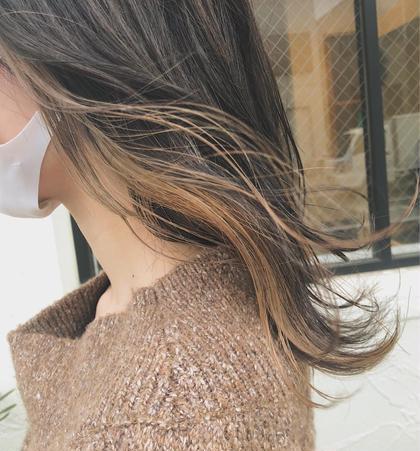 【🤍ブリーチなし垢抜けカラー🤍】インナーカラーorイヤリングカラー+N.トリートメント_¥8000