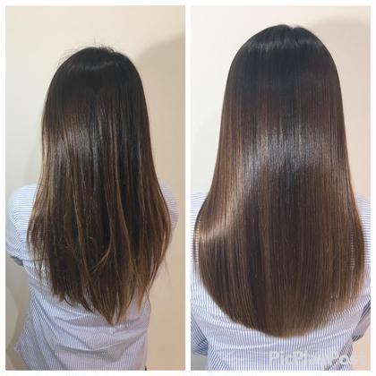 美髪トリートメント+髪質改善カラー