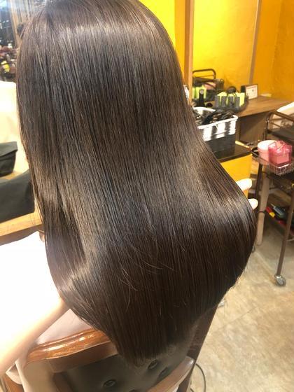 💚髪質改善メニュー💚酸性ストレート+リンゴX treatment