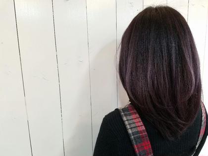 グレーパープルで上品な感じに。 hair brace所属・今井亮汰のスタイル