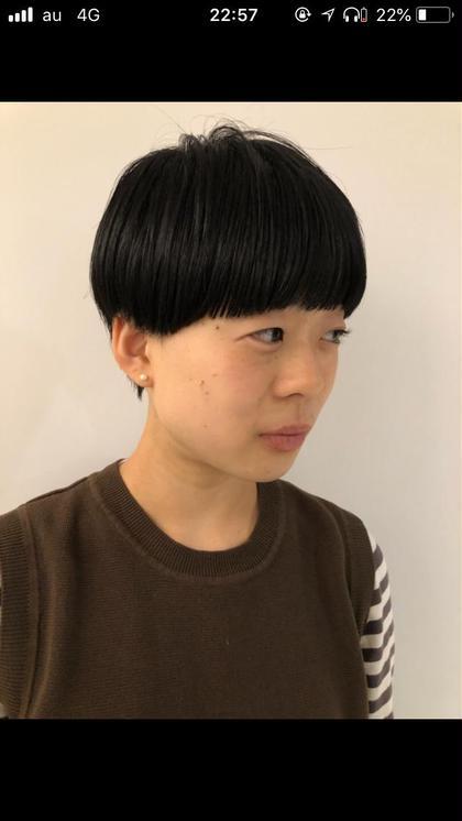 コンパクト。ミニマムなマッシュスタイル umica所属・mukaikoumaのスタイル
