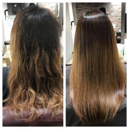カット & 髪質改善縮毛矯正 & トリートメント
