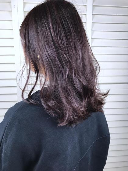 その他 カラー パーマ ヘアアレンジ ミディアム Real salon work💈 【 hilight / purple gray 】 . 透け感と色味が出しやすくなります🌿 ハイライトの入れ方ご相談ください #スレンダーハイライト . purpleイイ感じ🔮 . . #NAKAIstyle #ハイライト#パープルグレー#ミディアムヘア
