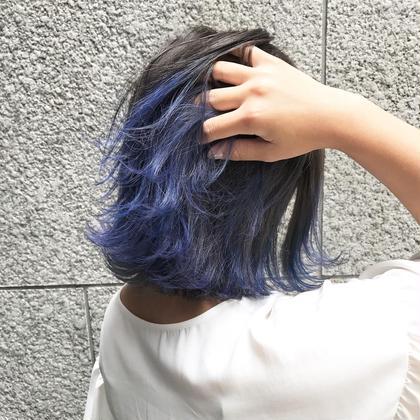 カラー グラデーションカラー+ブルー