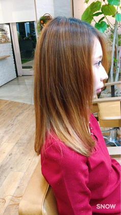 ロングからばっさりセミロングにカットしました! MOKU hair salon春日店所属・熊谷勝磨のスタイル