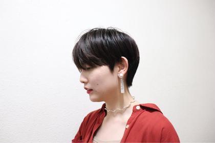 前髪カット+イルミナカラー✨