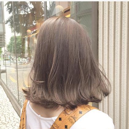ブリーチ一回のミルキーベージュ! ブリーチ一回でもここまでキレイにハイトーンにできます!   HAIR ISM所属・青田啓汰のスタイル