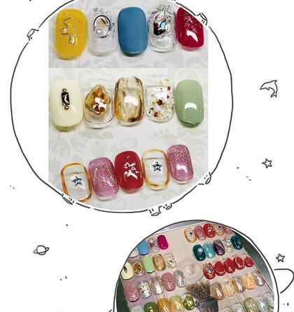 個性的ネイルデザイン【paraベース+¥500】(新規ソフトジェルオフ無料)
