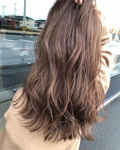 前髪カット+透け感カラー+艶トリートメント