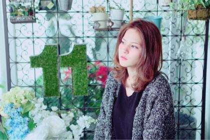 センターパート Aju-r hair design(アジュールヘアデザイン)所属・前田海希のスタイル