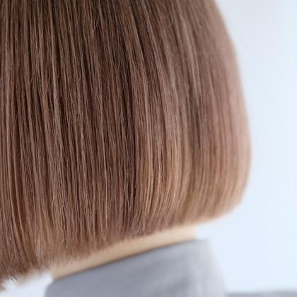 可愛いミルクティーカラーのボブです^ ^◎ ブリーチが必要になります◎ hairterraceproject所属・松吉晃征のスタイル