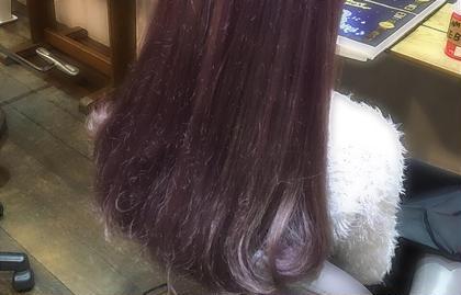 purple color on colorbutter. ▶︎ブリーチ2〜3回  淡い紫のカラーをいれてamoちゃんのようなカラー♡ ⚠︎こちらのカラーはカラーバターの料金も追加されます beyond所属・小川久美子のスタイル