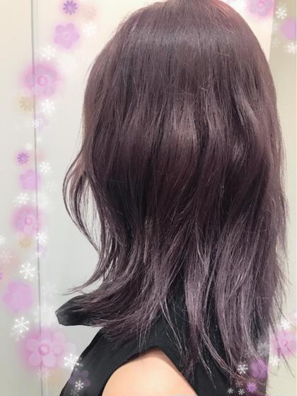 バイオレット+恋するモーブ 関口三都季のヘアカラーカタログ