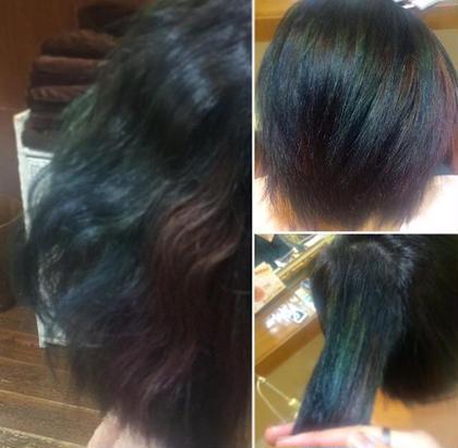 特殊カラー♡ベースはそんなに明るくないけれど色んな色が組み込まれているのでとても個性的なカラーに♡!!!個性的を望む方はぜひ!笑 〜ダブルカラー〜 ルプラ チッタ所属・東実咲のスタイル