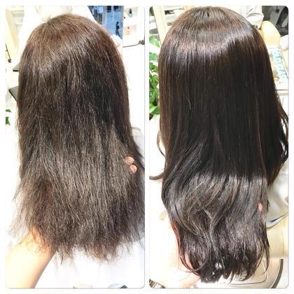 他店で縮毛矯正を失敗され、チリチリになった髪でもキレイにできるbloom sweetの中性縮毛矯正!縮毛矯正なのに、すごく柔らかい質感が手に入ります。