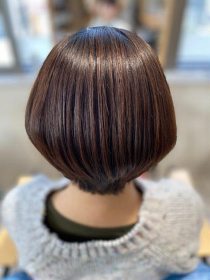 似合わせデザインカット+ダメージレスカラー+髪質改善トリートメント シャンプーブロー込み