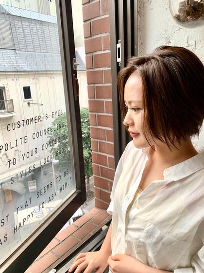🐵かなりお得なノーベル賞TR付き🐵透け感フルカラー+TOKIOトリートメント+デザインカット*