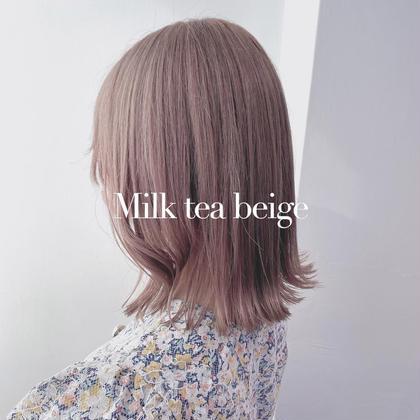🌟ミニモ限定🌟透明感なモテ髪へ🌫 【 透明感カラー 】 +【 髪質改善トリートメント】 +🍯炭酸spa 付き🌫