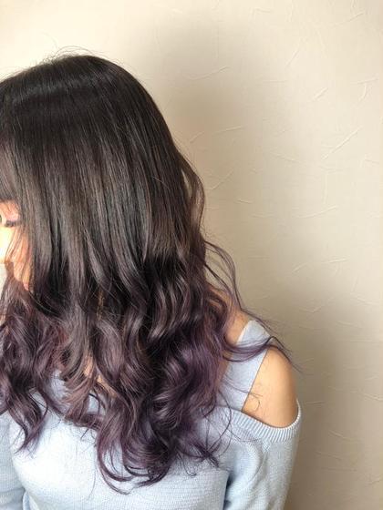 エクストラヴァイオレット✨ 玉城光のセミロングのヘアスタイル