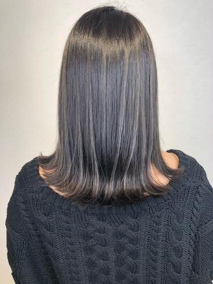 極潤★小顔補正カット&弱酸性縮毛矯正髪質改善ストレート&ベース付きトリートメント