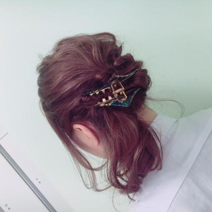 結婚式❤︎お祭りのヘアセット