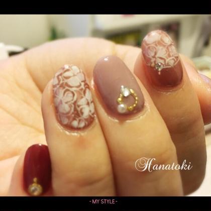 ミラーネイルを秋らしく♡ Hanatoki所属・菅原千明のフォト