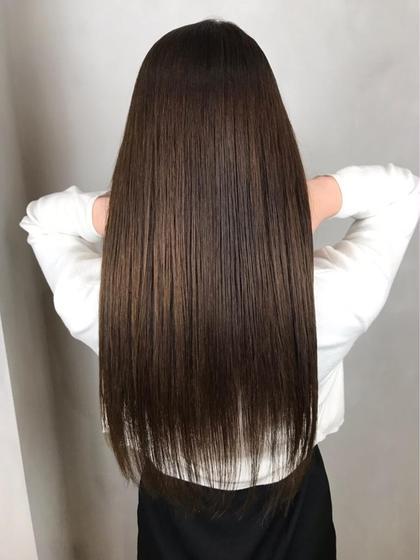 【髪質改善!補修率140%!】最高級トキオTr+モイスト縮毛矯正 +カット¥13900