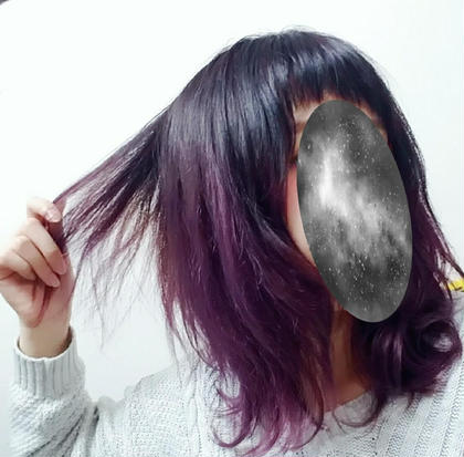 根元は暗め、毛先は明るい紫で染めました。 グラデーションカラーに挑戦してみました✨ hair resort Ai所属・丸山美穂のスタイル