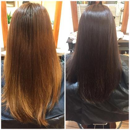 色落ちしてしまった髪も カラーとトリートメントでしっとりツヤサラに♪  モデルさんありがとうございます!! シュシュ バイ ケシキ所属・伊豆照輝のスタイル