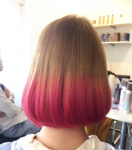 カラー ダブルカラー マニックパニック ピンク