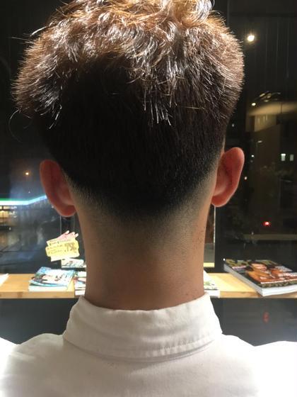 フェードカット。バリカンでグラデーションをつくります。 岩野恭子のメンズヘアスタイル・髪型