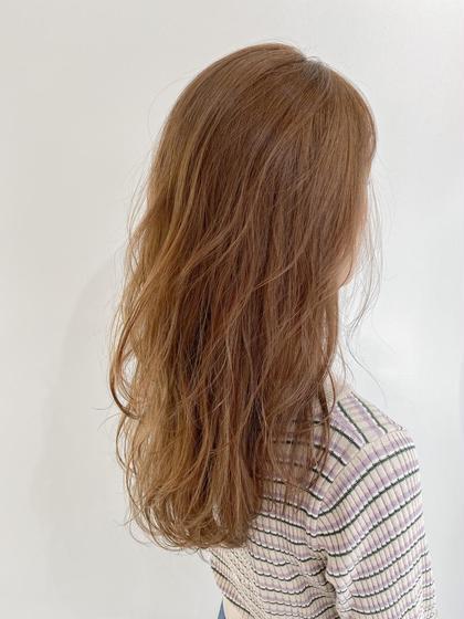前髪カット+グロスカラー+髪質改善5ステップトリートメント✨