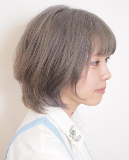 ブリーチからのアッシュグレージュカラー hair&makePOSH葛西店所属・坂上岳のスタイル
