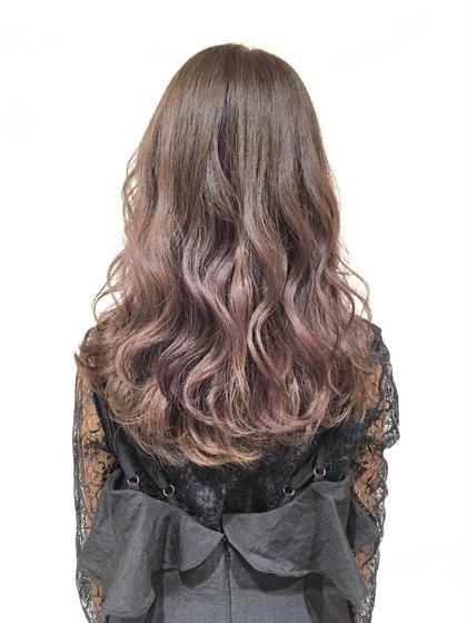 グラデーションカラー ピンク 重かるヘアー CLLIQUE    casitahair所属・小池玲加のスタイル