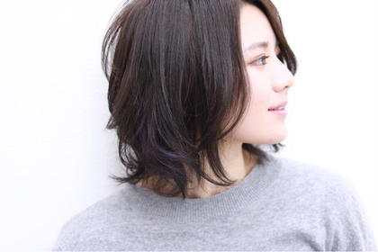 グレージュカラーに紫のインナーカラーを可愛くいれて。 MagicDays所属・中徹也のスタイル