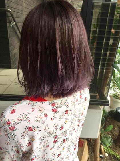 カラー ショート 毛先lavender×gradation