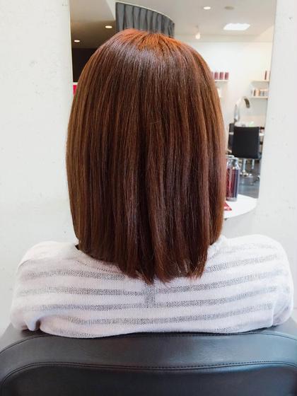 8トーンのピンクベージュ UP-PU  ART   HAIR所属・前田菜津美のスタイル
