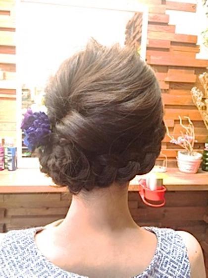 お祭り仕様にSET花火大会等浴衣に合わせていかがですか❓ AiMER hair salon所属・AiMERhair salonのスタイル