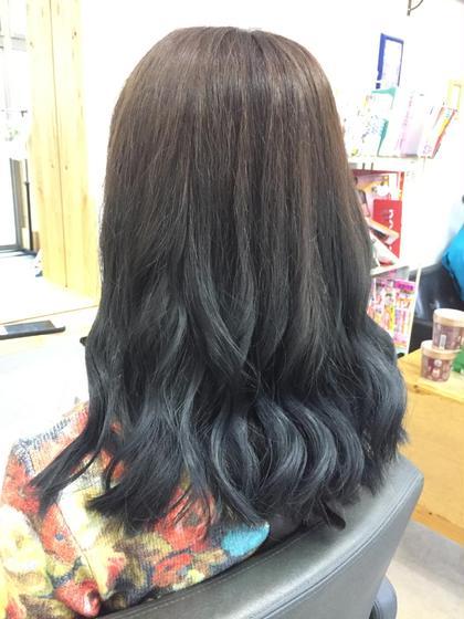 ヘビーブルーシルバーアッシュで秋に備えたカラーです! hairsalonbelle所属・kosekikeitaのスタイル
