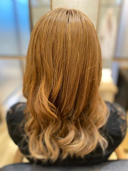 《PORT店クーポン》ケアブリーチ透明感ダブルカラー+髪質改善トリートメント