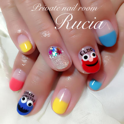 """Ruciaコース\♡/(やり放題)有料パーツ*キャラアート除く 他店オフ¥0 Private nail room""""Rucia""""所属・山本優佳のフォト"""